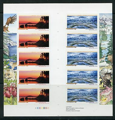 Weeda Canada 2224b VF mint NH gutter pane, 2007 National Parks booklets CV $15