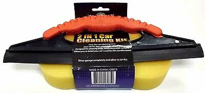2 In 1 Car Cleaning Kit Window Squeegee And Sponge