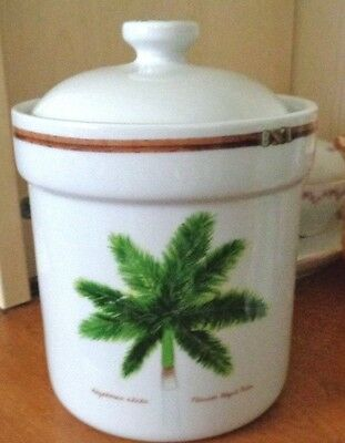 """Palm Island By Florida Marketplace 7.5"""" Sugar Canister & Lid, Exc"""