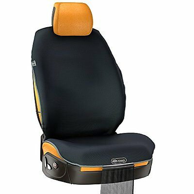Fit-Towel Car Seat Cover. Athletic Sweat Shield, With Cool, Quick-Dry, Skidless