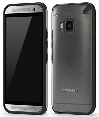 Puregear Slim Shell Black/clear Case Hard Cover For Htc One M9