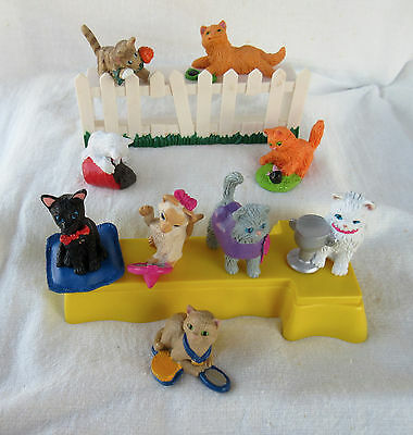 Vintage Kitty in My Pocket MEG/Hasbro Collection - 2 Sets - 9 Cats