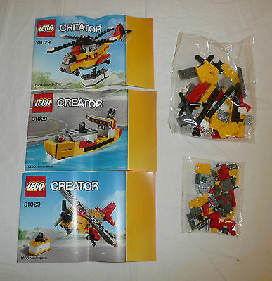 SEALED BAGS - LEGO Creator 3-in-1 Cargo Helicopter / Plane / Boat # 31029