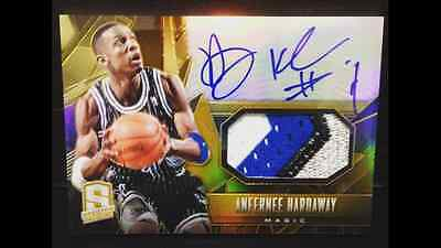 2013-14 Panini Spectra Gold Auto/Patch - Anfernee Hardaway - Serial #8/10