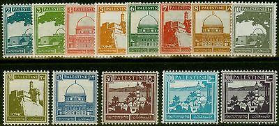 Palestine 1927 set of 13 (ex 90m) SG90-103 Fine Mtd Mint