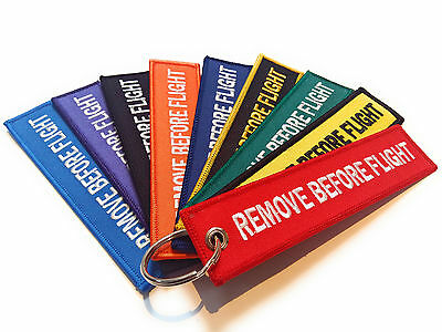 Remove Before Flight Keychain | Luggage tag | Key ring | High Quality | UK Stock