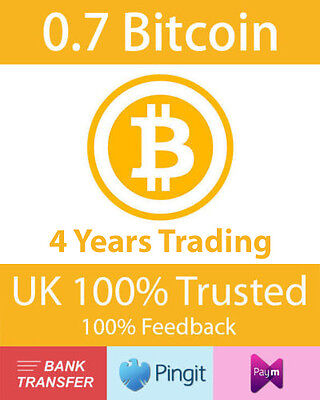 Bitcoin 0.7 BTC UK Seller, Formally bluey1979, Paym, Pingit, Bank Transfer