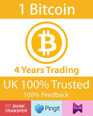 Bitcoin 1 BTC UK Seller, Formally bluey1979, Paym, Pingit, Bank Transfer