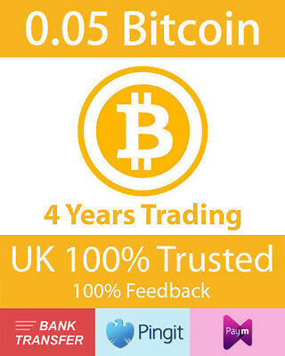 Bitcoin 0.05 BTC UK Seller, Formally bluey1979, Paym, Pingit, Bank Transfer