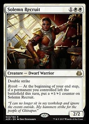 Recluta Solenne - Solemn Recruit MTG MAGIC AER Eng/Ita