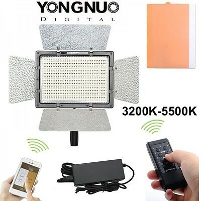 Panel Led Yongnuo YN-600L II 3200K-5500K con cable AC