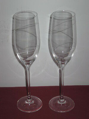 """Mikasa Crystal,   """"duos""""  Champagne Flutes (2)"""