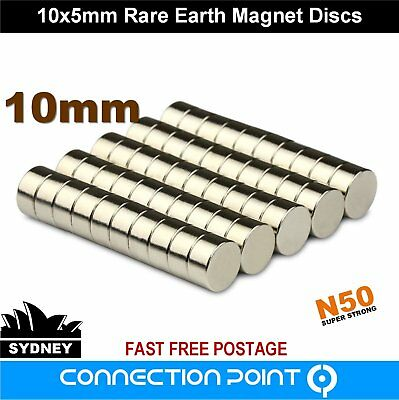 10mm x 5mm Rare Earth Magnet N50 Discs Cylinders Round Super Strong Neodymium