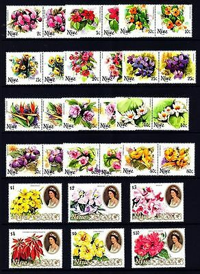 Niue 1981 Flowers (1st series) Set of 30 MNH