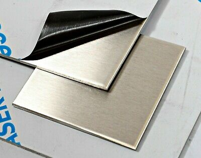 BRUSHED STAINLESS STEEL SHEET 430 Plate 0.9 1.2 1.5 2mm Thick 20 Different Sizes