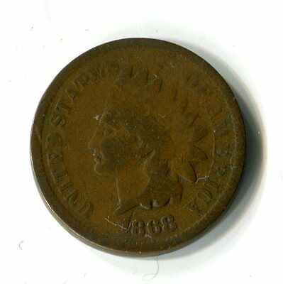 1 One Cent USA 1868 Indian Head Indianer M_1126