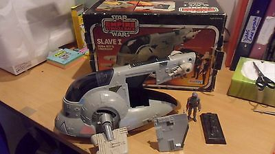 Vintage Star Wars Slave 1 Palitoy boxed Complete ramp, Frozen Han Solo 1981 nice