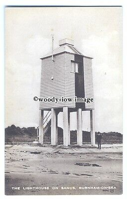 tq0300 - Lincs - The Low Lighthouse on Burnham Sands and still in use - postcard