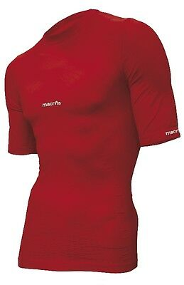 Macron Short Sleeve Base Layer Top - Size Xxxl - Red **rrp £45 - Now £10**