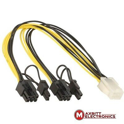 Delock Cable PCIExpress power supply 6pin female 2x8pin male 12V 2pins removable