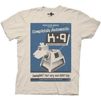 Dr Who - K-9 Poster Mens Short Sleeve White Cotton T-Shirt - New & Official BBC