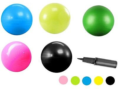 Yoga Exercise  Swiss Ball with Hand Pump Gym Quality Fitness home Ball 65 cm
