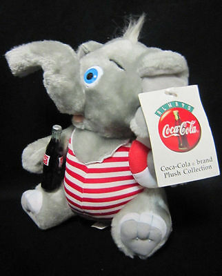 "1993 Coca Cola 8"" Elephant in Striped Swim Suit With Tag"