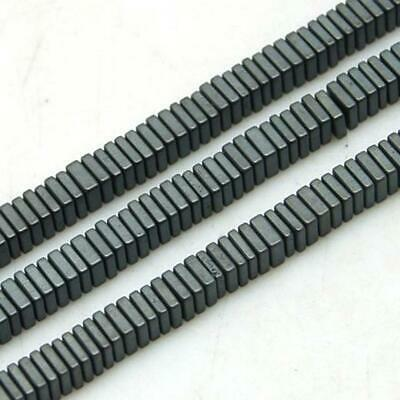 100 PREMIUM QUALITY FROSTED BLACK FLAT SQUARE HEMATITE BEADS 3mm