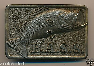 Bass Anglers Sportsman Society Belt Buckle Pewter + B.a.s.s.kit 1985