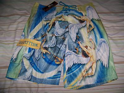 NEW WITH TAGS! Led Zeppelin SWAN SONG Dragonfly Swim Suit Trunks Board Shorts 36