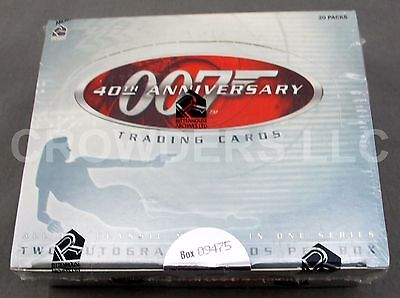 James Bond 007 40th Anniversary Trading Cards Sealed Box - Rittenhouse Archives