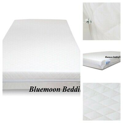 COT BED MATTRESS Quilted Baby Waterproof Breathable Foam Thick 140 X 70 X 13 CM