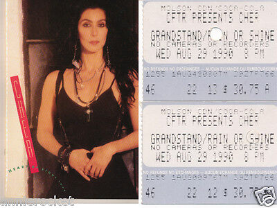 Cher-Heart of Stone-Tour Program/Press Book-Plus 2 Tickets from the Concert-1990