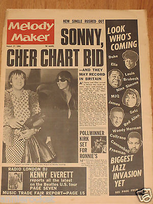 Sonny & Cher-Manfred Mann-Buddy Rich-Beatles-Alan Price-Archie Shepp-Aug-27-1966