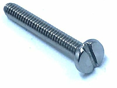 "Stainless Steel Machine Screw Binding Head Slotted Drive 7/8"" Length #4-40 X100"