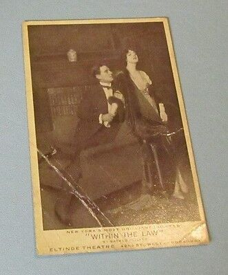 1913 Within the Law Bayard Veiller Broadway Play Advertising Real Photo Postcard