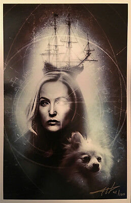 THE X-FILES 2016 Comics 11x17 Print Signed Numbered Slipcased Scully Queequeg