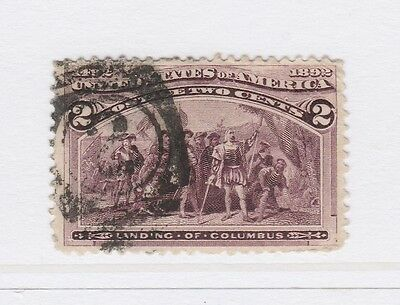 A3P18 United States 1893 2c used #10