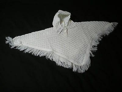 Baby Girls  Poncho coat Knitted White newborn-6 months New Little-Miracles