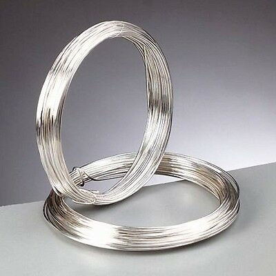 0.2 mm > 1.5 mm Silver Plated Non Tarnish Jewellery / Hobby / Craft Wire