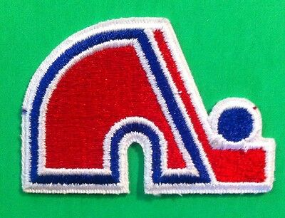 """Quebec Nordiques Vintage NHL- Crest/Logo Patch  3""""x 2"""" Inch sew on/iron On"""