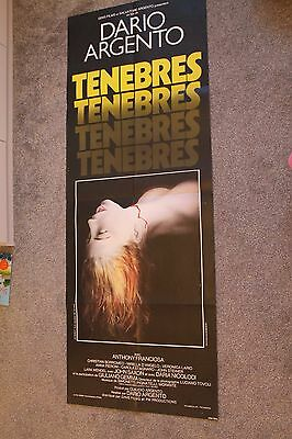 Tenebre (Original 1982 French Door Panel Poster, Dario Argento Giallo)