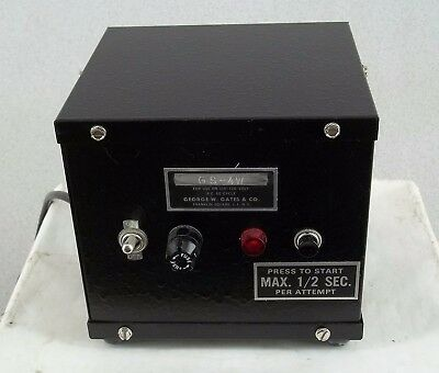 Vintage George W Gates GS-4W Power Supply for Monochromatic Sodium Arc Lamp