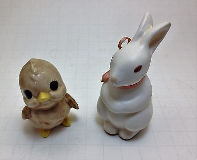 Vintage Easter Pair Rabbit and Chick