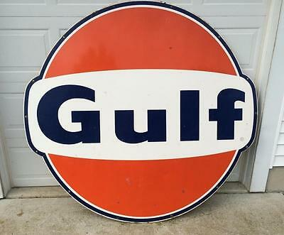 Vintage Gulf Porcelain Sign
