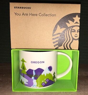 "Starbucks Coffee Mug OREGON ""You Are Here Collection"" 2016 NWT & box"