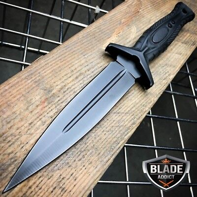 "9"" DOUBLE EDGE TACTICAL HUNTING Military Combat FIXED KNIFE Dagger Rambo Bowie"