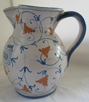 Italy Pottery Fiori 'flowers Of May' Pitcher
