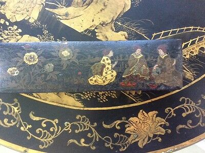 Antique Chinese, Japanese? Laqured Box, Pen, Paint? Hand Painted