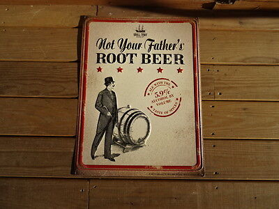"Small Town Brewery Not Your Father's Root Beer Metal Sign 24"" x 18"" Wauconda IL"